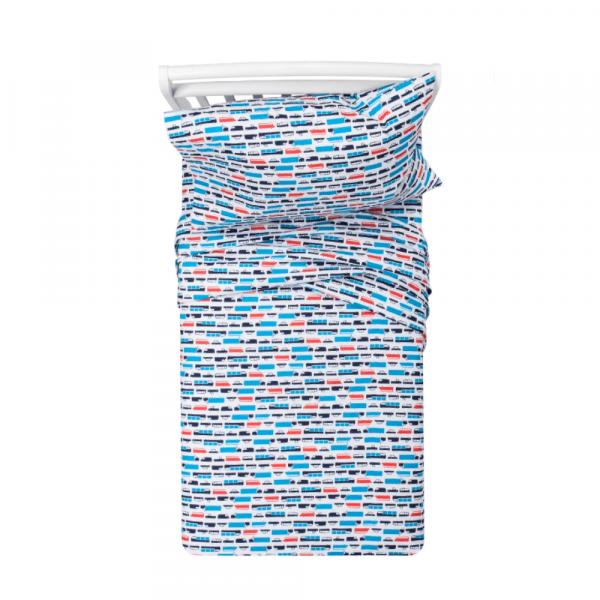 Transportation 100% Cotton Twin sheets