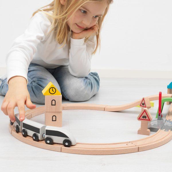 PIERO Pista de tren multicolor
